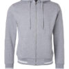 Mens Club Sweat Jacket James and Nicholson - grey heather white