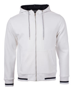 Mens Club Sweat Jacket James and Nicholson - white navy