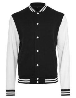Sweat College Jacket Build Yor Brand - black white