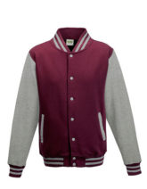 Varsity Jacket Just Hoods - burgundy/heather grey