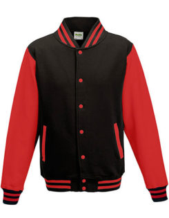 Varsity Jacket Just Hoods - jet black/red
