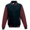 Varsity Jacket Just Hoods - navy/burgundy