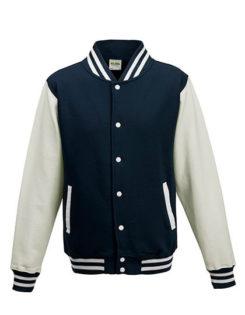 College Jacke bedrucken oder besticken - oxford navy white