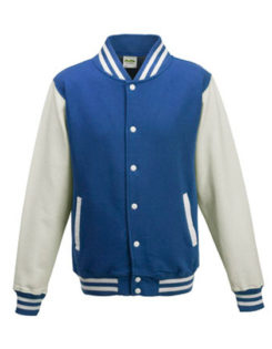 Varsity Jacket Just Hoods - royal/white