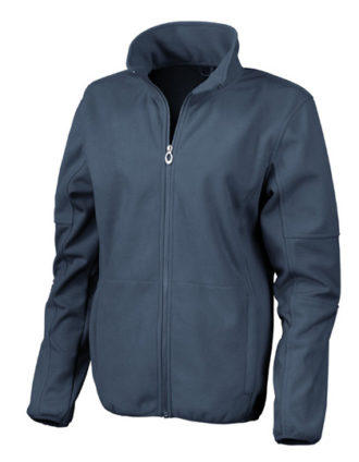 Womens Osaka Combed Pile Soft Shell Jacket Result - navy