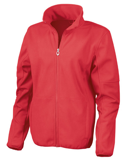 Womens Osaka Combed Pile Soft Shell Jacket Result - red
