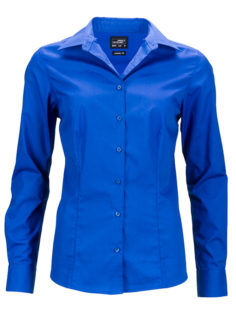 Ladies Business Shirt Long Sleeved James & Nicholson - royal