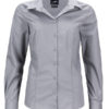 Ladies Business Shirt Long Sleeved James & Nicholson - steel