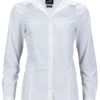 Ladies Business Shirt Long Sleeved James & Nicholson - white