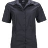 Ladies Business Shirt Short Sleeved James & Nicholson - black