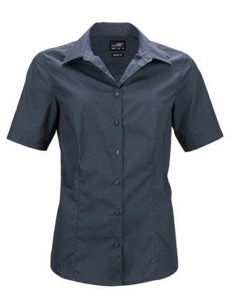 Ladies Business Shirt Short Sleeved James & Nicholson - carbon