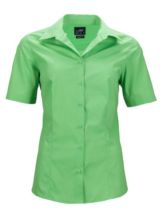 Ladies Business Shirt Short Sleeved James & Nicholson - lime green