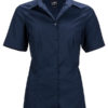 Ladies Business Shirt Short Sleeved James & Nicholson - navy