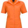 Ladies Business Shirt Short Sleeved James & Nicholson - orange