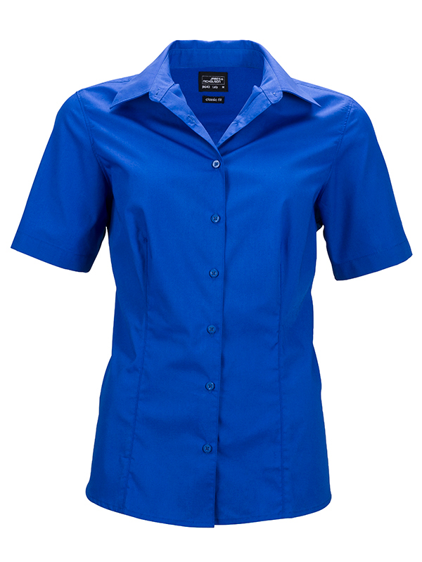 Ladies Business Shirt Short Sleeved James & Nicholson - royal