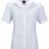 Ladies Business Shirt Short Sleeved James & Nicholson - white