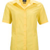 Ladies Business Shirt Short Sleeved James & Nicholson - yellow