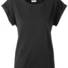 Ladies Casual T James & Nicholson - black