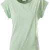 Ladies Casual T James & Nicholson - soft green