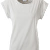 Ladies Casual T James & Nicholson - soft grey