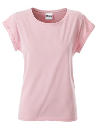 Ladies Casual T James & Nicholson - soft pink