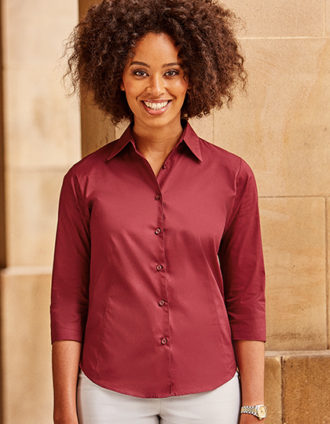 Ladies Fitted Shirt Russel - port