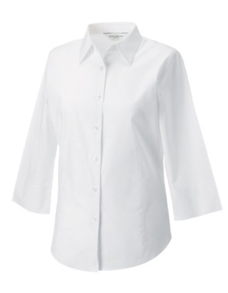 Ladies Fitted Shirt Russel - white
