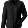 Ladies Long Sleeve Oxford Shirt Russel - black