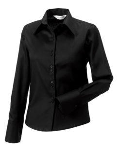 Ladies Long Sleeve Ultimate Non Iron Shirt Russell - black