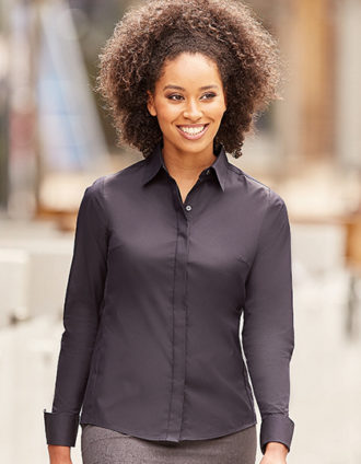 Ladies Long Sleeve Ultimate Stretch Shirt Russel
