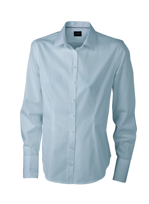 Ladies Long Sleeved Blouse James & Nicholson - light blue