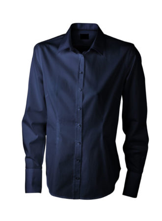Ladies Long Sleeved Blouse James & Nicholson - navy
