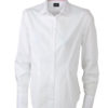 Ladies Long Sleeved Blouse James & Nicholson - white