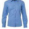 Ladies Shirt Longsleeve Poplin James & Nicholson - aqua