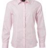 Ladies Shirt Longsleeve Poplin James & Nicholson - light pink