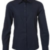 Ladies Shirt Longsleeve Poplin James & Nicholson - navy