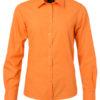 Ladies Shirt Longsleeve Poplin James & Nicholson - orange