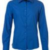 Ladies Shirt Longsleeve Poplin James & Nicholson - royal