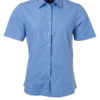 Ladies Shirt Shortsleeve Poplin James & Nicholson - aqua