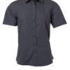 Ladies Shirt Shortsleeve Poplin James & Nicholson - carbon