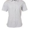 Ladies Shirt Shortsleeve Poplin James & Nicholson - light grey