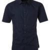 Ladies Shirt Shortsleeve Poplin James & Nicholson - navy