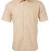 Ladies Shirt Shortsleeve Poplin James & Nicholson - stone