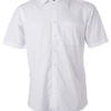 Ladies Shirt Shortsleeve Poplin James & Nicholson - white