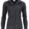 Ladies Shirt Slim Fit James & Nicholson - black