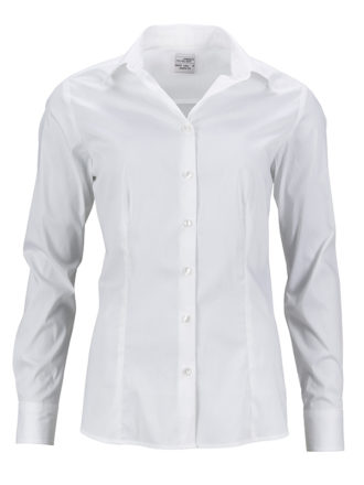 Ladies Shirt Slim Fit James & Nicholson - white