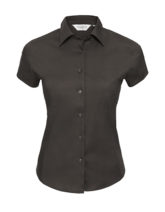 Ladies Short Sleeve Fitted Shirt Russel - black