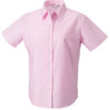 Ladies Short Sleeve Oxford Shirt Russel - classic pink
