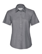 Ladies Short Sleeve Oxford Shirt Russel - silver