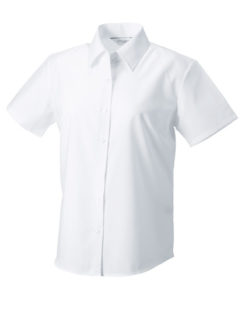 Ladies Short Sleeve Oxford Shirt Russel - white